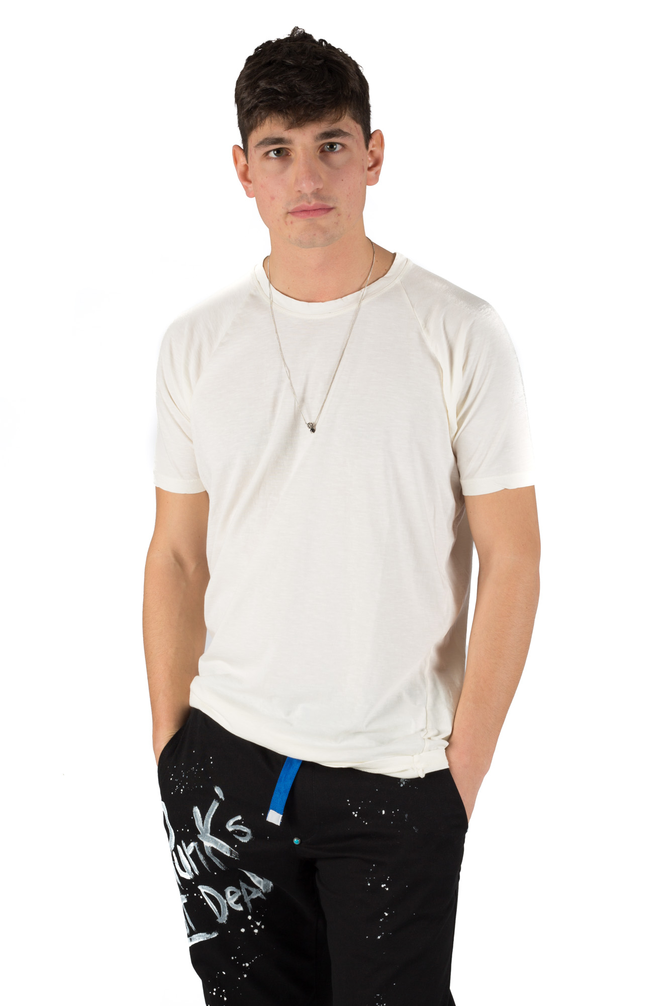 Paura - T-shirt basic crema