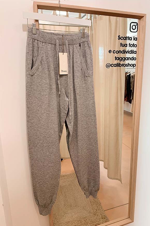 Dixie - Soft knit gray jogger trousers