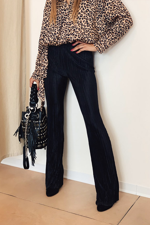 Vicolo - Black pleated trousers