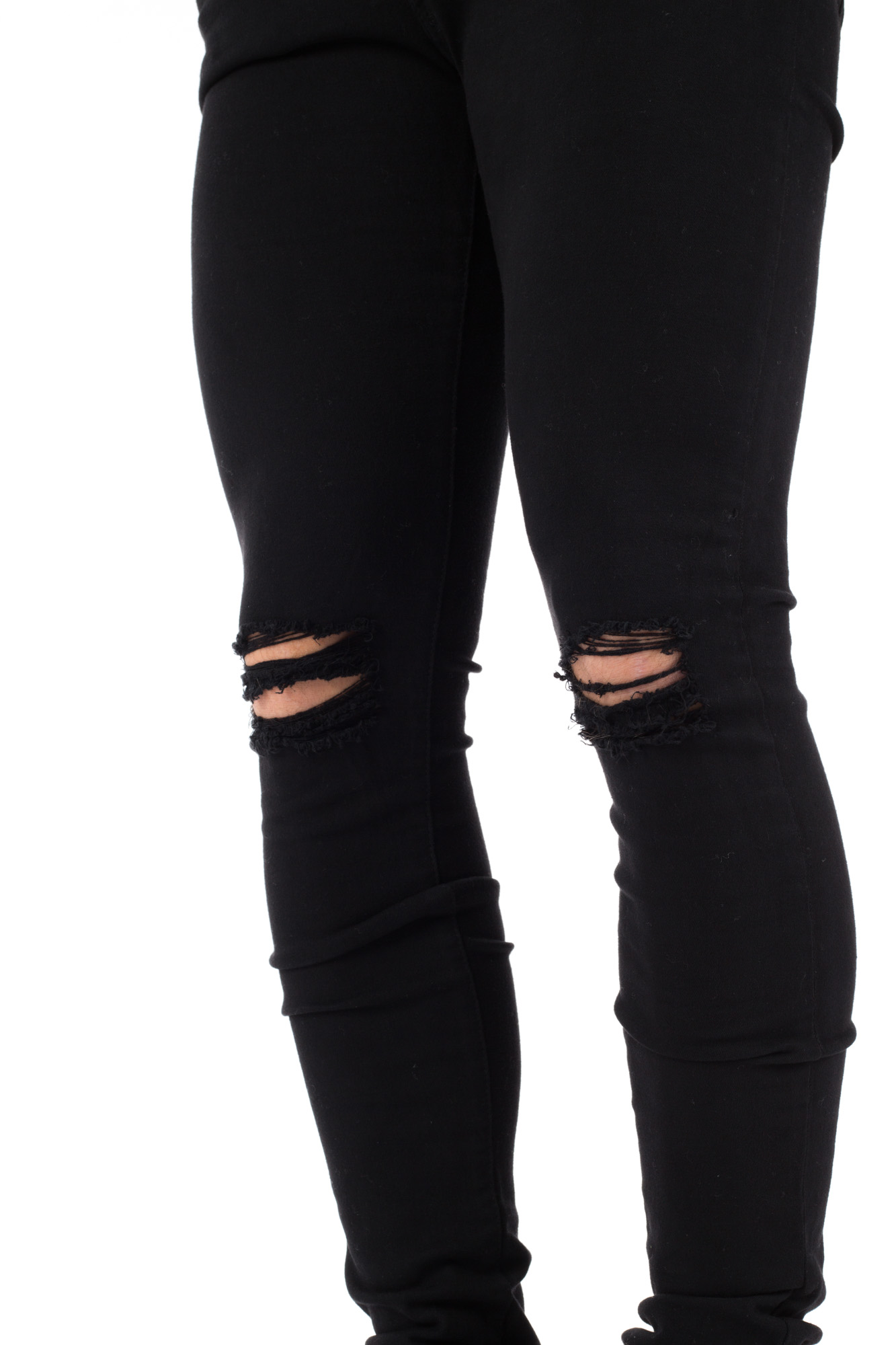 Dr. Denim - Black skinny jeans with ripped knees
