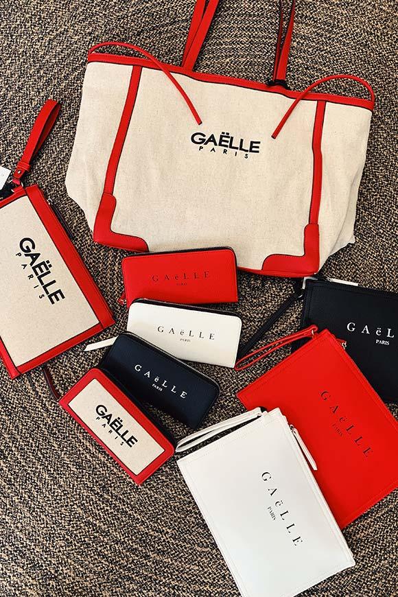 3c3fecb842 Gaelle Pochette in canvas con logo - Calibro Shop