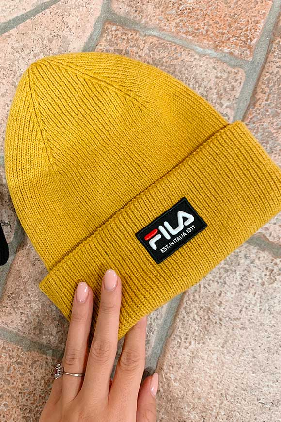 Fila - Mustard hat with logo patch