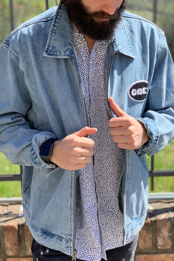 Obey - Denim jacket with logo
