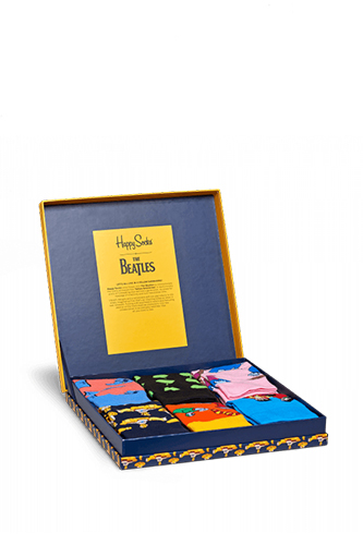 Happy Socks - Box Calze Beatles Unisex 6 paia
