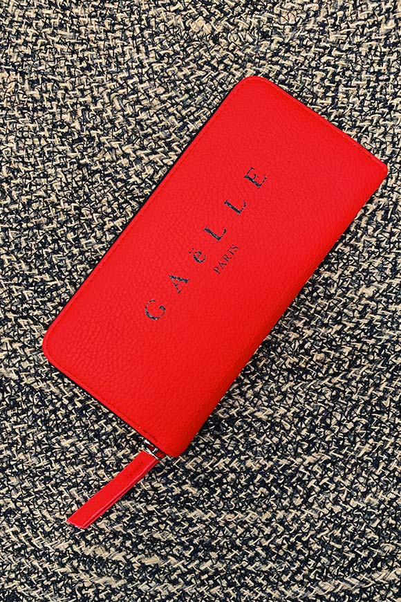 Gaelle - Basic red handbag with logo