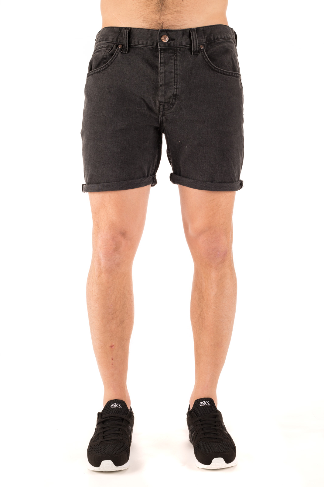 Dr. Denim - Mac Shorts nero lavato