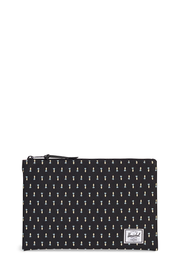 Herschel - Pochette Network embroidery black pineapple