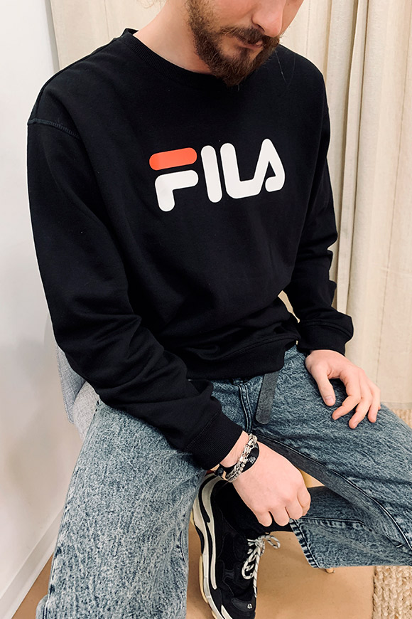 Fila - Black sweatshirt with basic logo