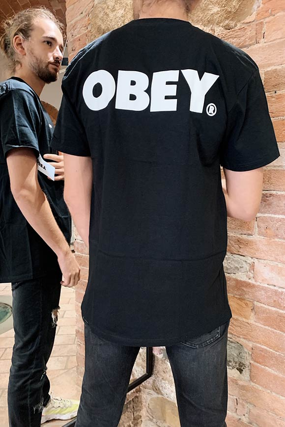 Obey - Black t shirt with white logo