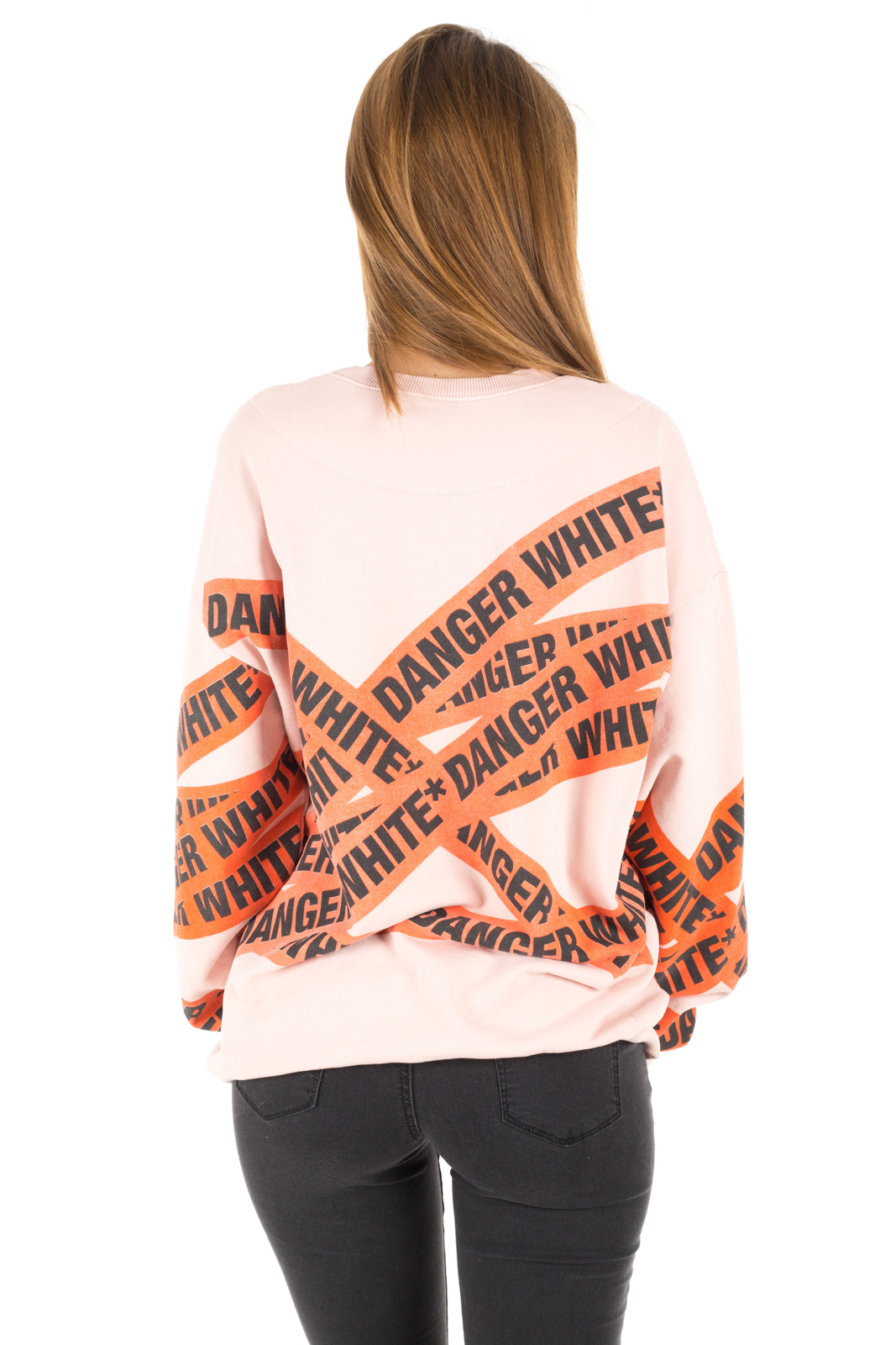 White - Sweatshirt Print Danger