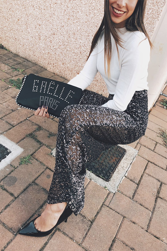 Glamorous - Black palace leopard trousers