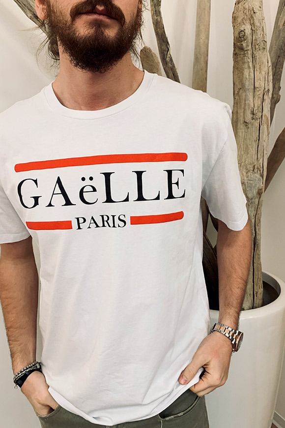 Gaelle - White T shirt with logo