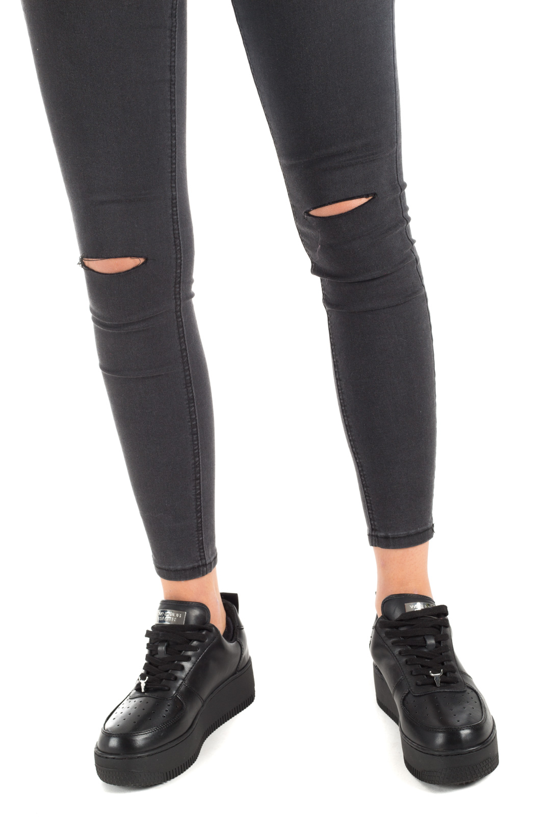 Glamorous - Black jeans with knee pads