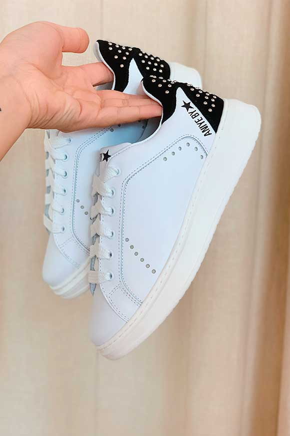 Aniye By - White Iron sneakers with studs