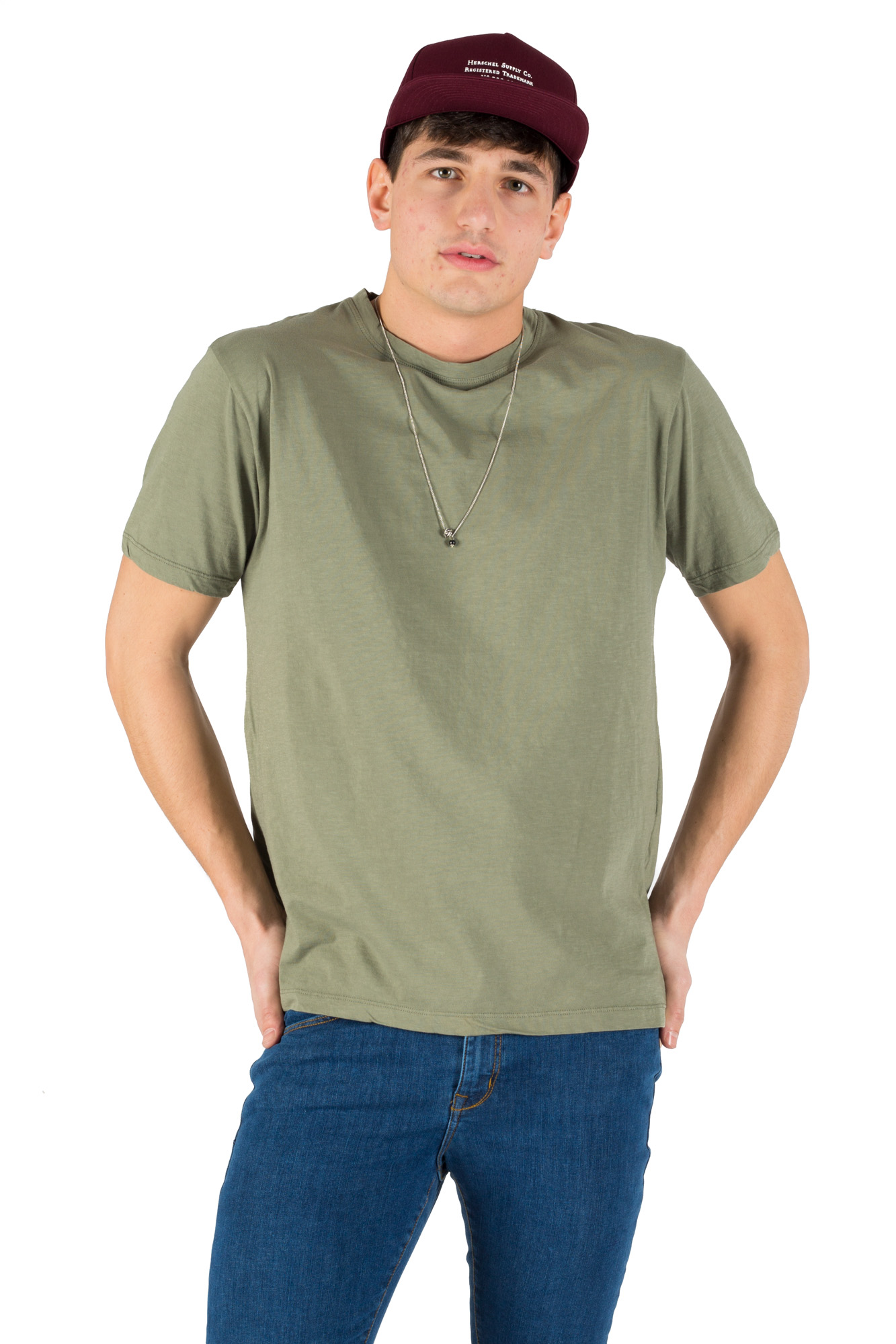 Paura - T-shirt basic olive
