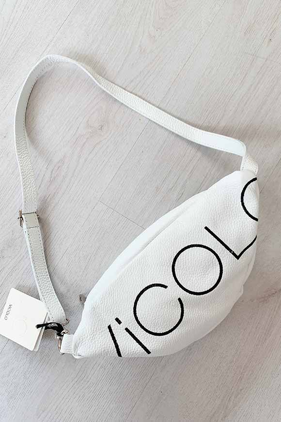 Vicolo - White bum bag with logo