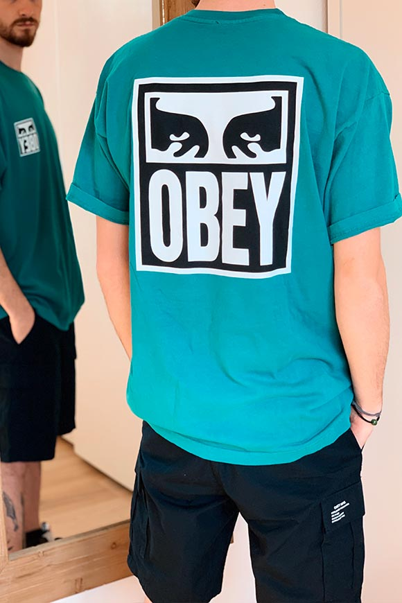 Obey - T shirt eucalipto Eyes Icon 2