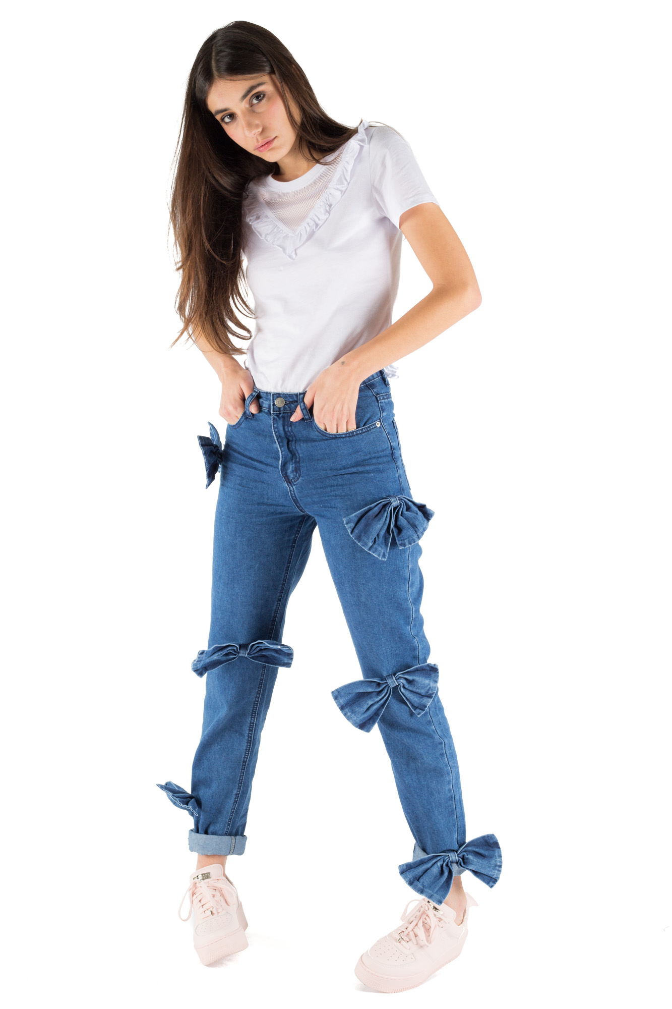 Glamorous - Mom fit jeans with bows