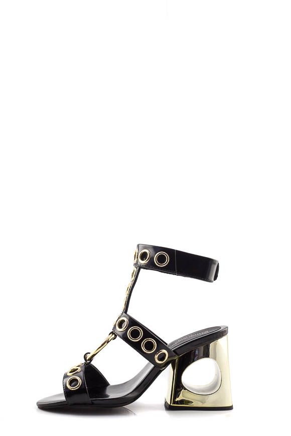 Jeffrey Campbell - Sandals Black and gold Bianka