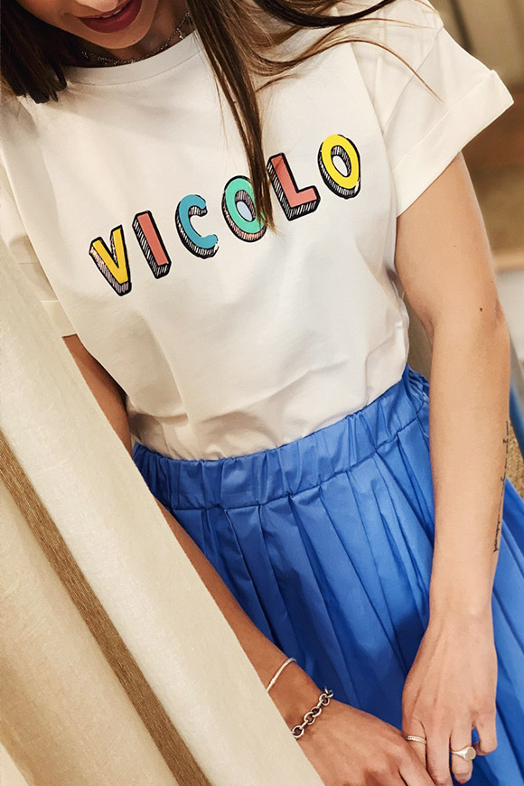 Vicolo - White cartoon T shirt