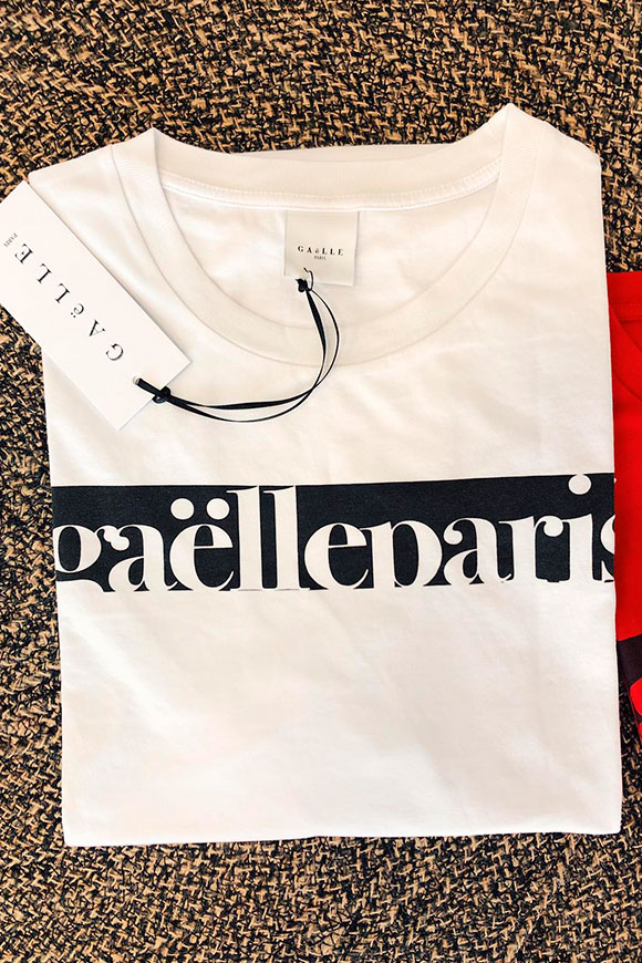 Gaelle - White T shirt with white logo