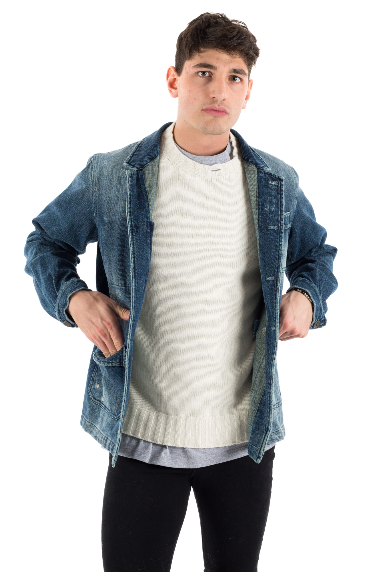 Derrière - Denim jacket with front pockets