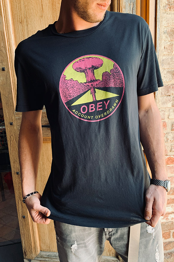 Obey - T shirt nera atomic