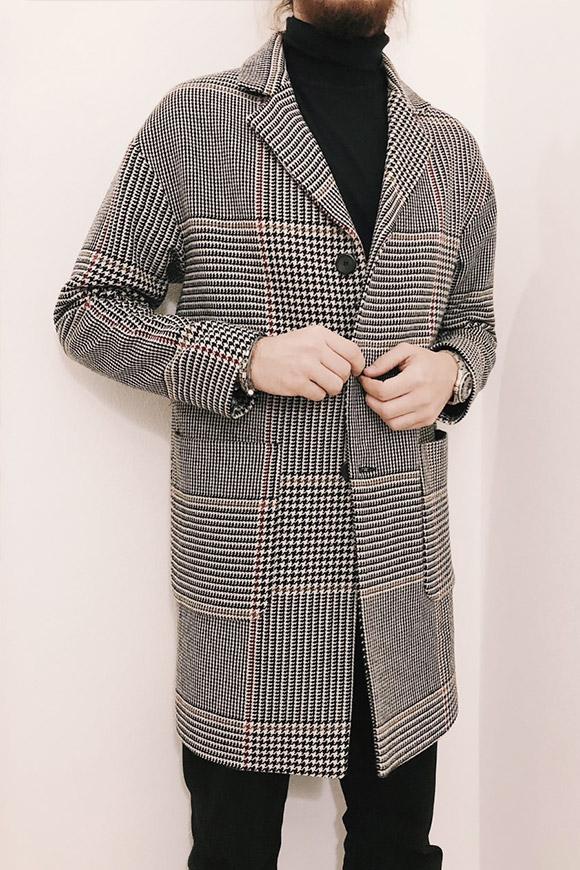 cappotto uomo bianco e nero