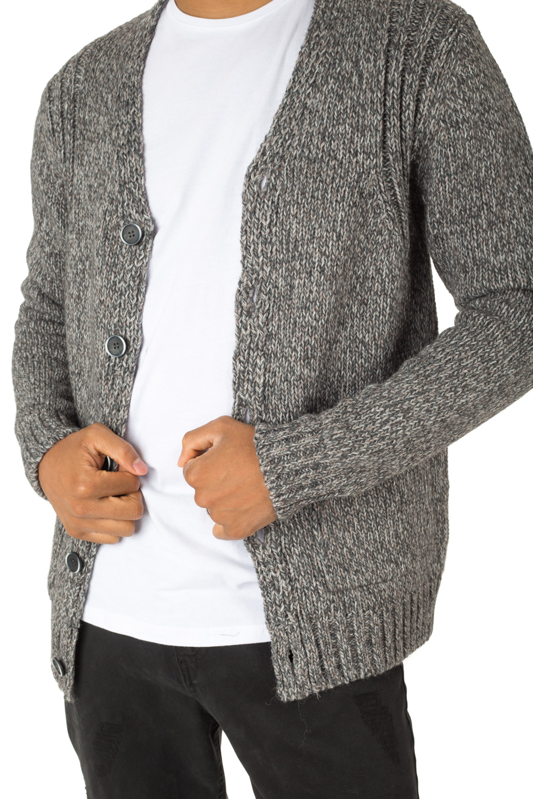 Minimum - Cardigan in gray Paicey jersey