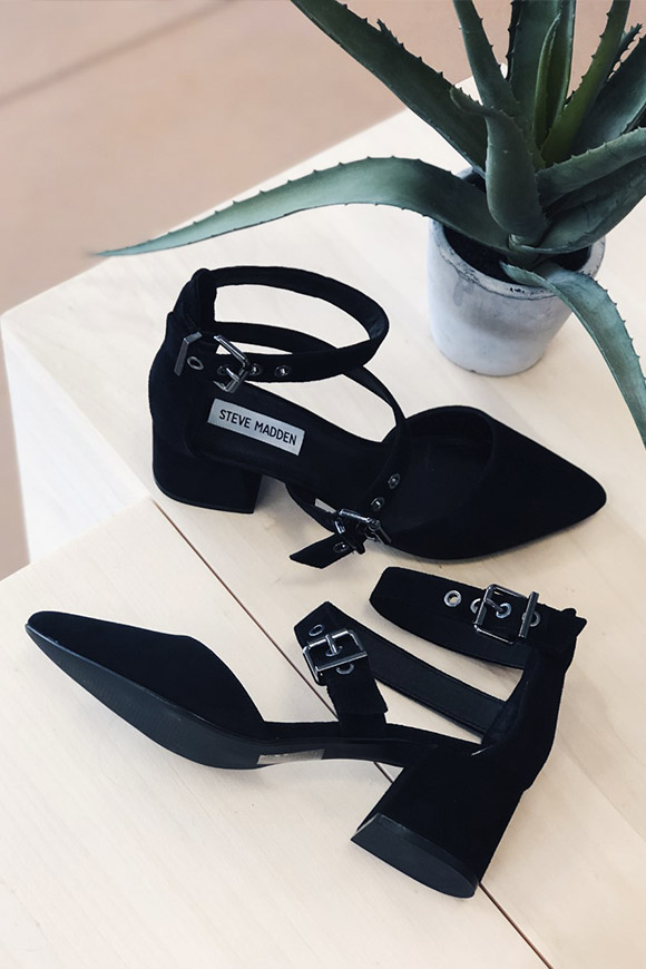 Steve Madden - Dia black sandals with buckles