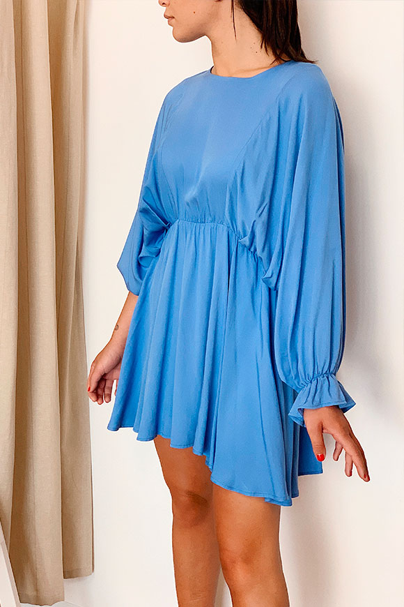 Vicolo - Light blue dress with bat sleeves