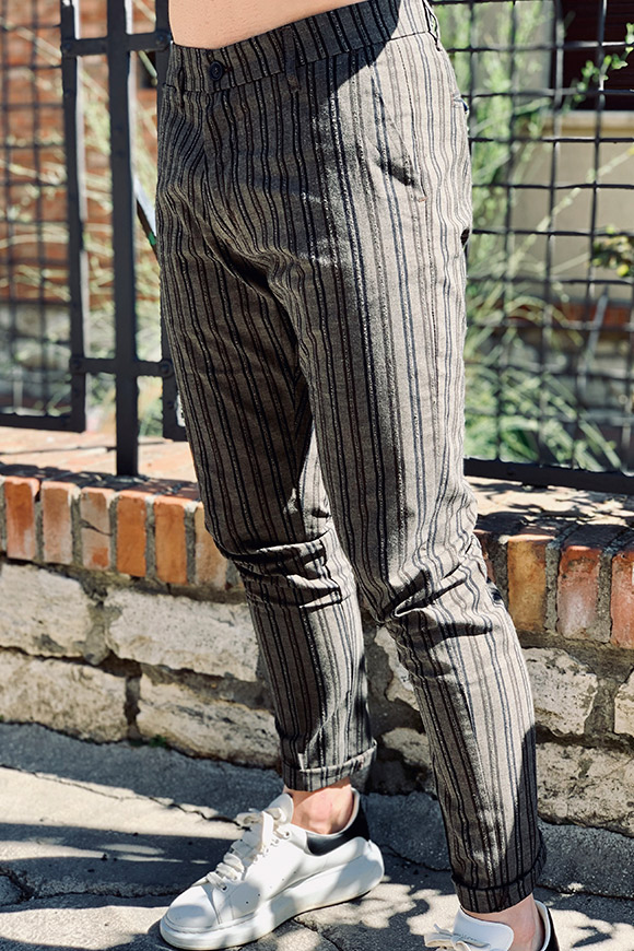 Gianni Lupo - Grey striped trousers